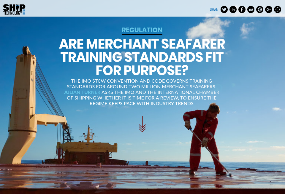 Are merchant seafarer training standards fit for purpose