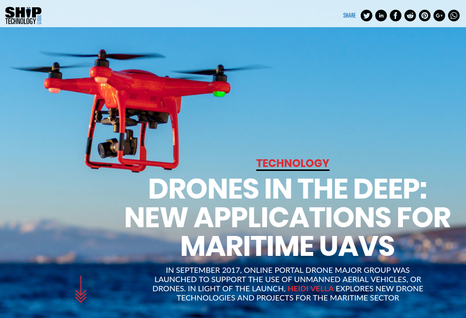 Drones in the deep: new applications for maritime UAVs - Ship